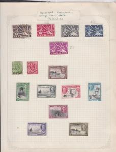 nyasaland protectorate orange free state palestine stamps page ref 17401