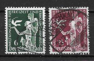 Germany 477-78 Recreation Congress set Used (z2)
