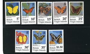 BR. VIRGIN ISL.1991 BUTTERFLIES #711-718 & MSs#719-720 MNH