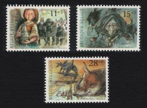 Belgium Folk Tales 3v 1992 MNH SG#3133-3135