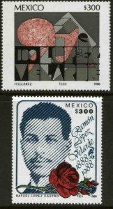 MEXICO 1549-1550 Centenary of Birth of Poet Ramon Lopez Velarde MINT, NH. VF.