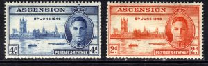 Ascension Island 1946 KGV1 Set of Victory MM SG 48 - 49 ( R622 )