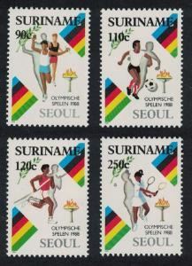 Suriname Football Tennis Running Olympic Games Seoul 4v SG#1374-1377