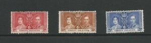 British Virgin Islands 1937 Coronation Used Set SG 107 / 109