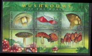 Sierra Leone Scott 2975 MNH! Mushrooms!