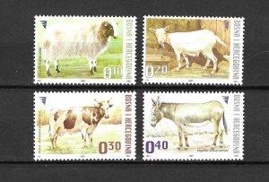 Bosnia & Herzegovina MNH 573-6 Farm Animals 2007