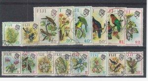 FIJI (MM125) # 305-320 VF-USED VARc,$ 1971-72  VARIOUS BIRD STAMPS CAT VALUE $21