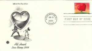 2008, All Heart-Love, PCS, FDC (D13265)