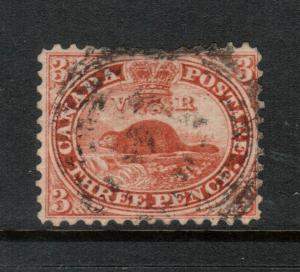 Canada #12 Very Fine Used With Thin At Top Margin
