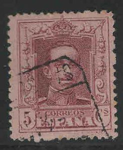 SPAIN Scott 332 Used Claret stamp control # on back
