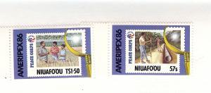 Tonga (Niuafo'ou), 74-75, AMERIPEX 1986 Singles, MNH