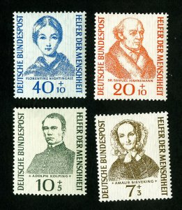 Germany Stamps # B344-7 VF OG LH Scott Value $22.50