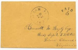 CSA Cover Lewisburg, VA Handstamp Paid 5 Nov 26, 1861 Bagby-Smithee Correspond.