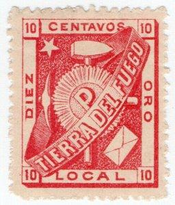 (I.B) Argentina Local Post : Tierra del Fuego 10c