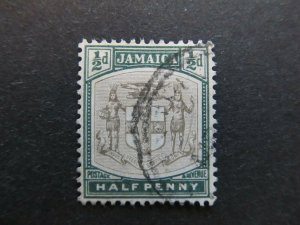 A4P21F30 Jamaica 1903-04 Wmk Crown CA 1/2d used