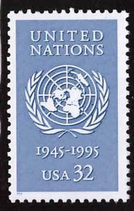 USA Scott 2974 MNH** UN 50 year anniversary stamp