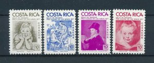 [104162] Costa Rica 1977 Postal tax children's village Christmas paintings  MNH