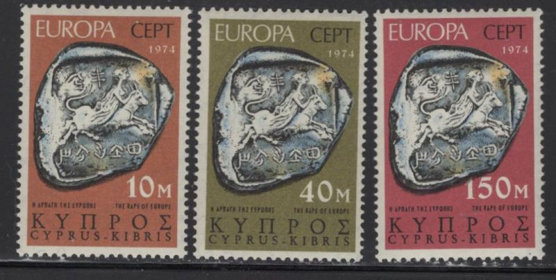 CYPRUS 416-418 MINT HINGED COINS