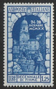 Stamp Italy SC 318 1934 Fiume Annexation 10th Anniversary St. Vito Tower MH