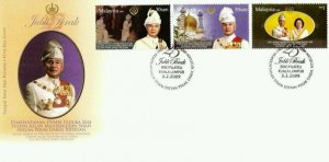 Silver Jubilee Of Sultan Perak Malaysia 2009 King People Leader Royal (stamp FDC