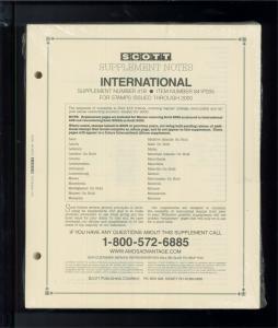 2005 Scott International Postage Stamp Album Supplement Pages L-Z 41B #841P205