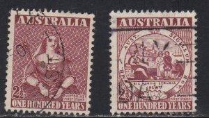 Australia # 228-229, First Stamp Designs, Used, 1/2 Cat.