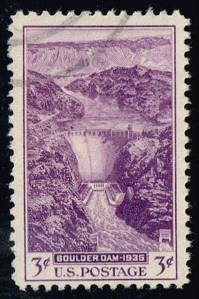 US #774 Boulder (Hoover) Dam; used (0.25)