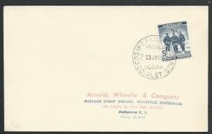 COCOS IS 1962 cover Australian Antarctic 5d franking.......................58649