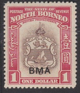 NORTH BORNEO 1945 $1 BMA overprint fine MNH................................57565