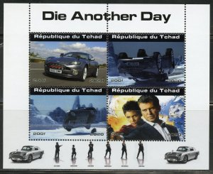 Chad 2020 James Bond Die Another Day sheet(4) mint never hinged