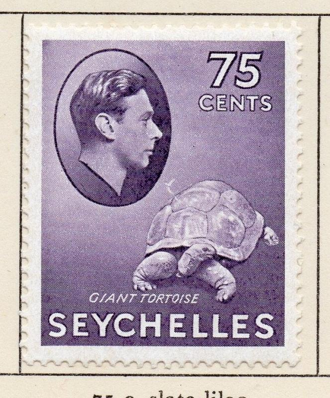 Seychelles 1938-49 Early Issue Fine Mint Hinged 75c. 205528