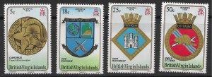 British Virgin Islands Scott 266-269 MNH 1974 Interpex, Arms of Ships Set