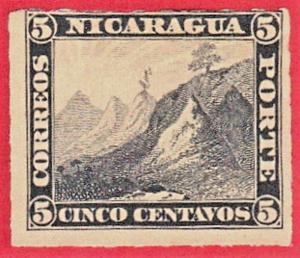 NICARAGUA SCOTT# 2 MNH 1862 LIBERTY CAP ON MOUNTAIN TOP  SEE SCAN FRONT & BACK