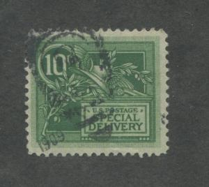 1908 US Special Deliver Stamp #E7 Used Very Fine Duplex Postal Cancel