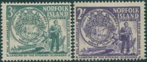 Norfolk Island 1956 SG19-20 Landing set MLH