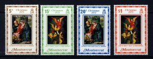 MONTSERRAT QE II 1971 The Complete Christmas Set SG 276 to SG 279 MNH