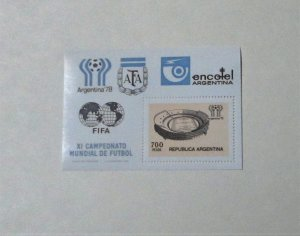 Argentina - 1192 S/S. World Cup Soccer Stadium. SCV - $1.75