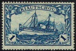 KIAOCHOW 1905 YACHT $1 NO WMK 26 X 17
