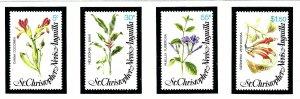 St Kitts-Nevis 380-83 MNH 1979 Flowers