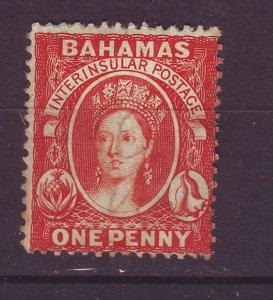 J24074 JLstamps 1863-81 bahamas used #16  perf 14 wmk 1 queen see details