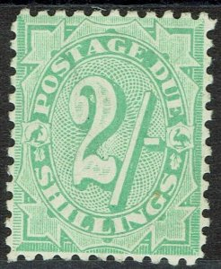 AUSTRALIA 1908 POSTAGE DUE 2/- WITH STROKE