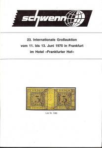 Schewnn: Sale # 23  -  Schwenn 23. Internationale GroB-Au...
