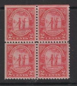 United States 1930 Gov. Joseph West & Chief Shadoo Block of 4 Stamps Scott 683 M