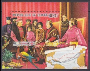 1986 Guinea 1127/B229 Christopher Columbus and King Ferdinand 7,00 €