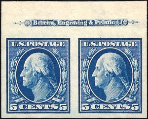 347 Mint,OG,NH... Imprint Pair... SCV $110.00... XF