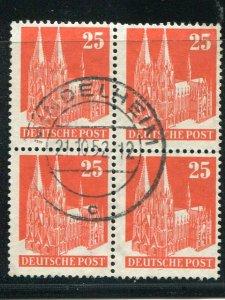 Germany #648a  Used rare block 4  cat $640 - Lakeshore Philatelics
