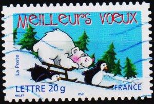 France. Date? 20g Letter. Fine Used