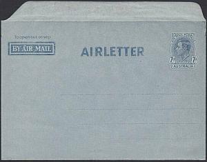 AUSTRALIA GVI 7d airletter fine unused.....................................53779