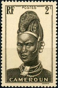 Cameroun #225 2c Mandara Woman Unused/H
