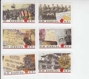 2016 Bermuda World War I (6) (Scott NA) MNH